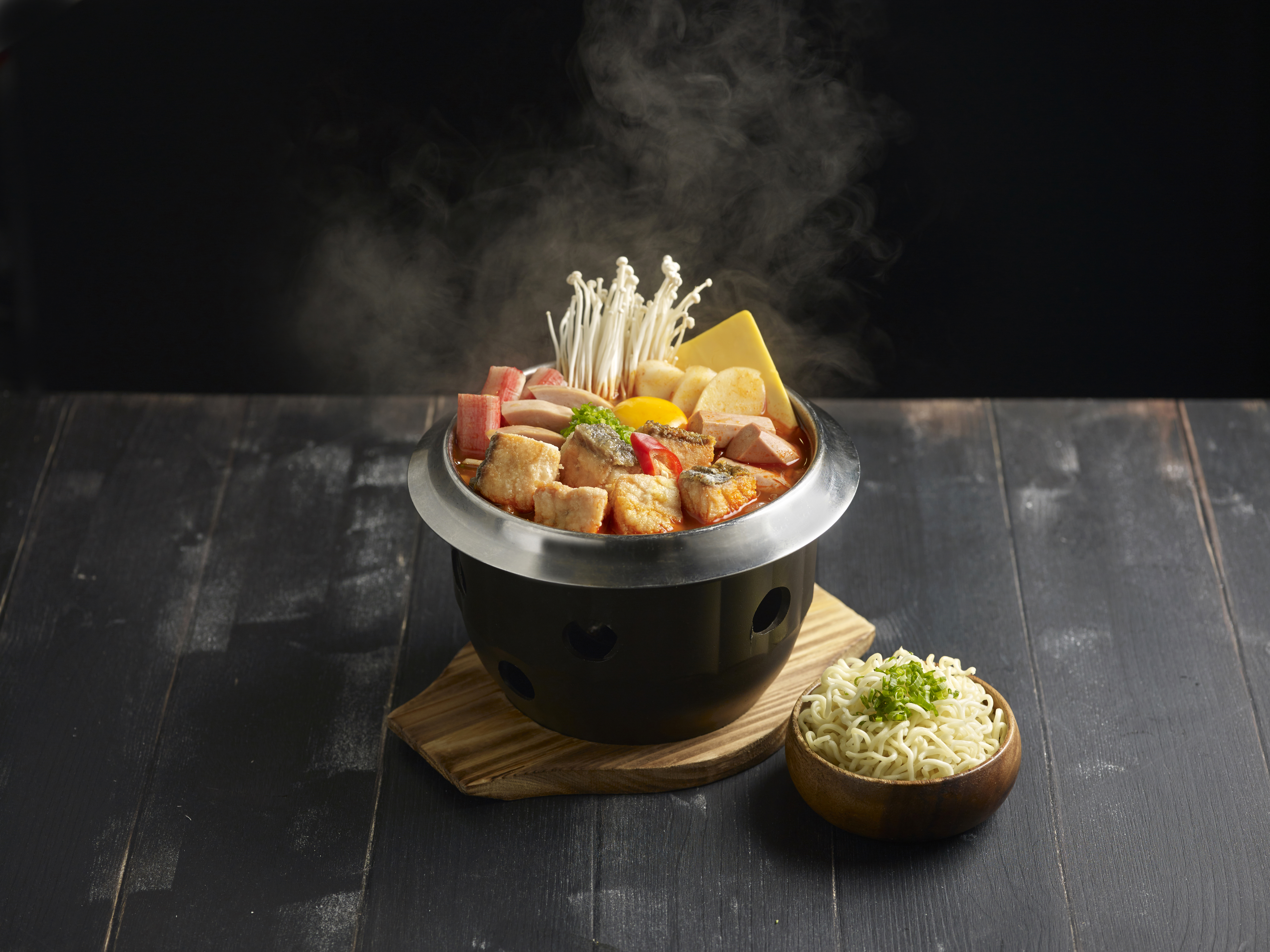 Salmon Army Stew Hot Pot